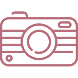 An icon depicting a camera